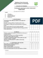 81450584 Head Nursing Tool Checklist