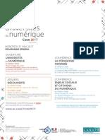 Flyer Universités du numérique