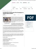 (Investimentos Devem Gerar 50 Mil Empregos No Espírito Santo Até 2014 - Folha Vitória)