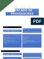 Análisis Del Mercado de Proveedores