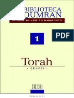 A Cura Di Giovanni Ibba La Biblioteca Di Qumran. Torah - Genesi