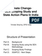 SEA Scoping Study and State CC Action Plans