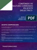 Contenido de Sulfuro Corrosivo en Aceite Dielectrico