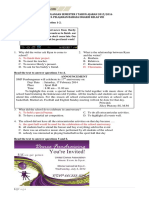 Latihan Soal Uas Bahasa Inggris Kelas 8 Semester 1 Kunci