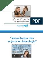 "Charla Educativa ""Las niñas en la tecnología"""
