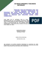 NOM-045-SEMARNAT-1996 - Establece Los Lim Max Permisibles de Opacidad Del Humo de Escape de Automotores