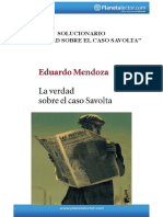 """""""La Verdad Sobre El Caso Savolta"""" Planeta Lector Guia de Lectura (Solucionario)"""
