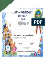 Diploma Juanita Infancia