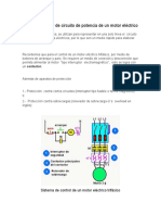 Diagrama Unifilar de Circuito de Potencia de Un Motor Eléctrico