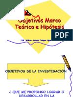Objetivos Marco Teorico Hipotesis