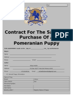 puppy contract restrictions or none