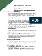 Estereotipos Dominantes en La Sociedad Peruana