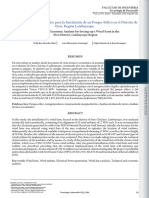 Análisis Técnico-Económico Para La Instalación de Un Parque Eólico