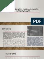 presentacion Instrumentos Para La Medición de Las Precipitaciones