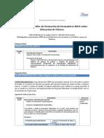 1. Agenda Para Formación de Formadores DECE Valores