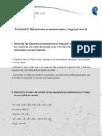 Act3.Operaciones Proposicionales y Lenguaje Formal