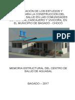 Memoria de Calculo Estructural Centro de Salud de Aguasal (Reparado)