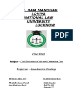 Civil Procedure Code and Limitation Law Final Draft_ Srijita Kundan, Roll No. 133