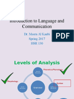 Introduction to Language and Communication-Week11