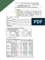 Formato Snip 16 para registro en fase de inversión de un PIP