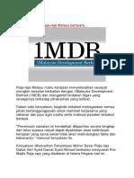 1MDB Akhirnya Raja-raja Melayu Bersuara