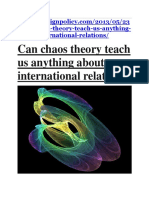 Chaos Theory and International Relations