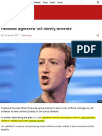 Facebook Algorithms 'Will Identify Terrorists' - BBC News