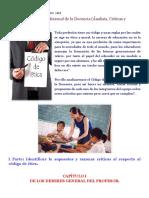 ÉTICA Y PEDAGOGÍA_ Código de Ética Del Profesional de La Docencia (Ánalisis, Críticas y Aportes)