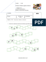 PRUEBA 3. EDUCACIÓN MATEMÁTICA. Ordenar, Comparar y Secuenciar Números