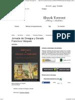 Libro Jornada de Omagua y Dorado de Francisco Vázquez