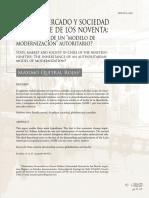 Estado, mercado y sociedad en el Chile de los noventa