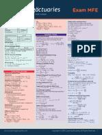 Mfe3f Formula Sheet (Final) 061814