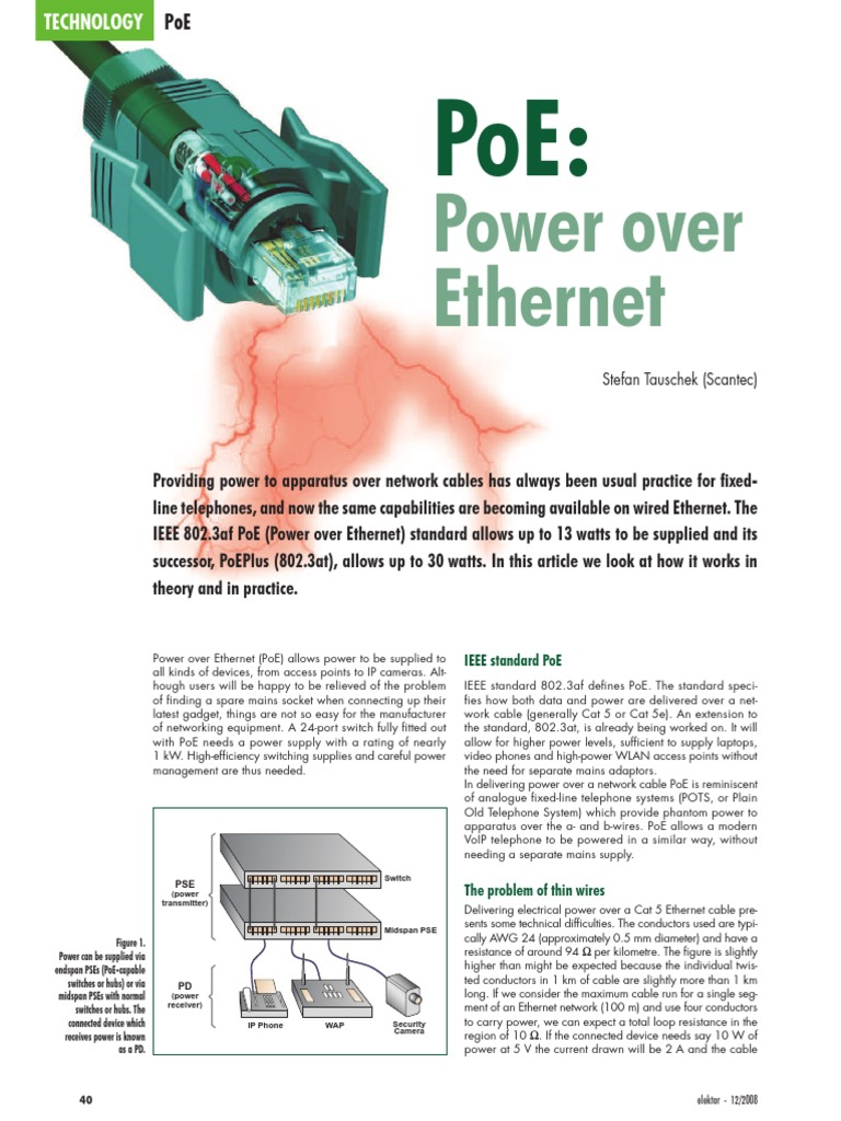 Poe Power Over Ethernet Electric Electrical Components Diagram Midspan Equipment