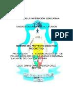 Proyecto Didactico Productivo Unidad Eduativa La Union 1