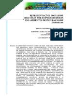5- REPRESENTAÇÕES SOCIAIS DE ESTRATÉGIA POR EMPREENDEDORES EM AMBIENTES DE INCUBAÇÃO DE EMPRESAS (2010) XVII_SIMPEP_Art_1113