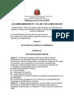 Plano de Carreira - Servidores - Lc - 1118-10