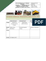 Pts-002_carguio y Transporte Mineral Mina Altamira - Planta Las Luces