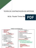 Teoría de Contrastación de Hipótesis UJCM 2015