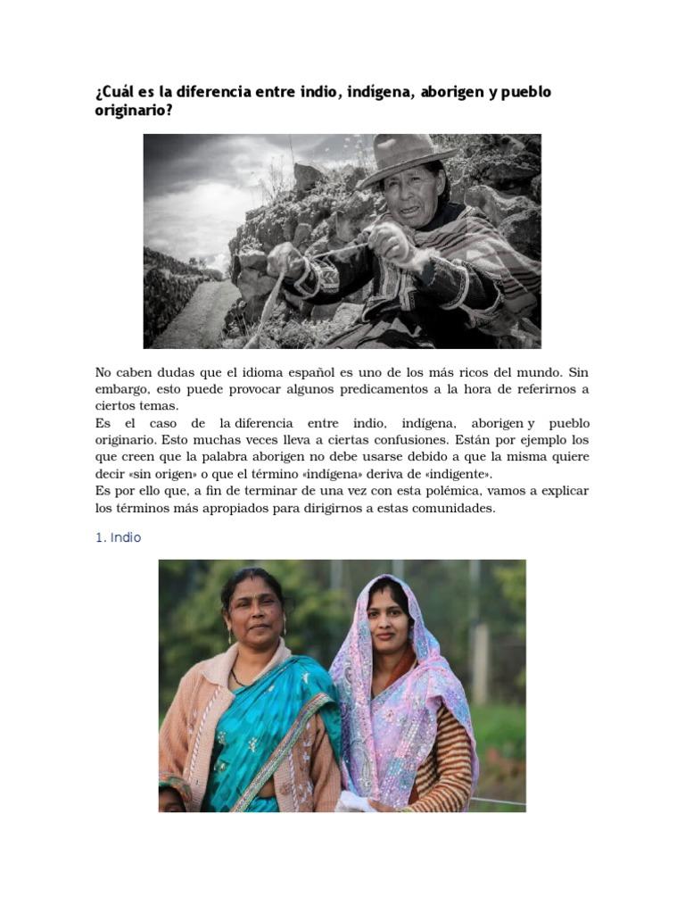 Cuál Es La Diferencia Entre Indio Aborigen E Indigena Gente Indígena Pueblos Indígenas De Las Américas