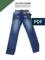 Catalogo Pantalones