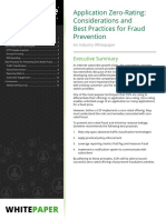 Whitepaper Application Zero Rating for Fraud Prevention