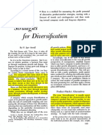 Ansoff (1957) - Strategies for Diversification