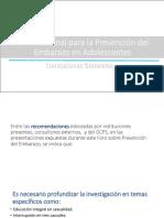Foro Nacional para la Prevención del Embarazo en Adolescentes - Conclusiones Generales
