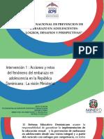 Acciones y retos del fenómeno del embarazo en adolescencia en la República Dominicana