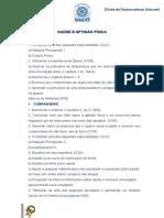CLASSES CLUBE AZIMUTE - SAÚDE E APTIDÃO FÍSICA.doc