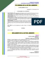 Reglamento Ley Del Ambiente