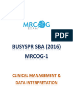 (SAMPLE) 9- Clinical Management & Data Interpretation (BusySPR 2016 SBAs)