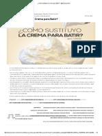 ¿Cómo Sustituyo La Crema Para Batir_ – @Cesarcocinero