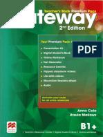 Gateway Teachers premium pack B1+ Part 1
