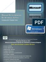 Manual de instalación Windows 7